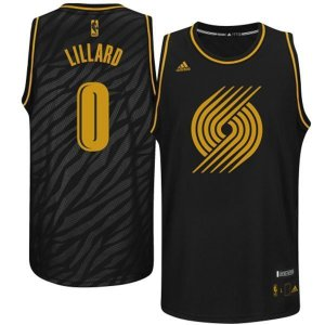 Cheap 2018 Mens Portland Trail Clothing Blazers Damian Lillard Black Precious Metals Swingman GVU3479
