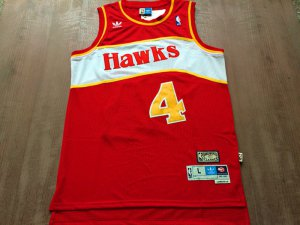 Cheap Buy Online Atlanta Jerseys Hawks #4 Spud Webb red Swingman Throwback VDW381