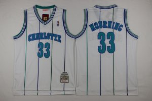 Cheap Buy Online Mitchell And Ness Charlotte Jersey Hornets #33 Alonzo Mourning White Throwback Stitched SNJ631