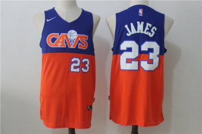Cheap Online 2018 Cavaliers 23 Lebron James Blue & Clothing Orange Nike NXR1022