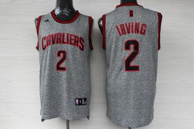 Cheap Online Sale Cleveland Cavaliers 2 Kyrie Irving Static Apparel Swingman CUV1145