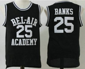Cheaper The Movie Bel Air Academy Jersey 25 Banks Black Swingman Basketball EXX1491