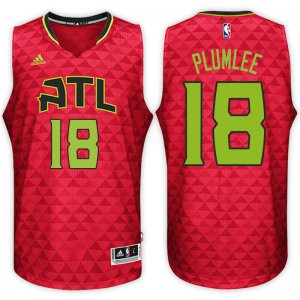 Classic version Atlanta Hawks NBA #18 Miles Plumlee Road Red Swingman HHI352