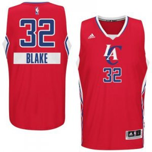 Comfortable Los Angeles Clippers 32 BLAKE 2014 Christmas Day Big Logo Jersey Swingman Red ZUM2304