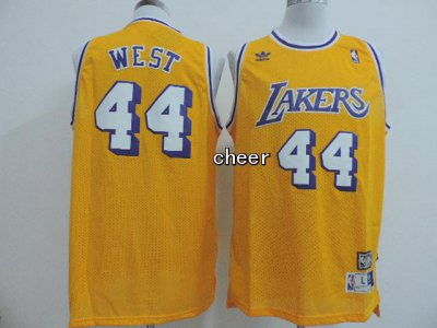 Delicious Los Angeles Lakers #44 west Gear yellow WLT2472