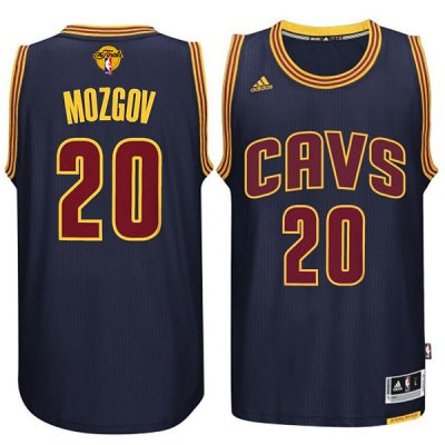 Fast Shipping Cleveland Cavaliers #20 Apparel Timofey Mozgov 2015 16 Finals Navy Blue AEW273