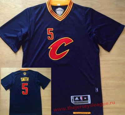 Guarantee Quality Cleveland Cavaliers #5 J.R. Smith Navy Basketball Blue Revolution 30 Swingman Short Sleeved Basketball YXO1046