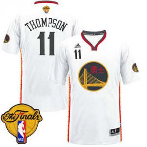 High Quality Warriors #11 Klay Thompson White 2017 Chinese Merchandise Year The Finals Patch Stitched XJU1837