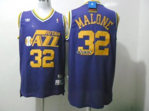 Hot Deal Throwback Utah Jazz #32 Gear malone purple HND4152