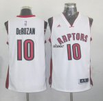 Hot Deal Toronto Basketball Raptors #10 derozan white XZP3896