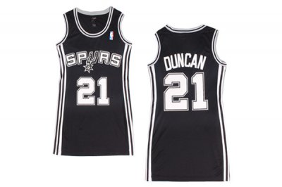Manufacturer's delivery Women San Antonio Spurs Apparel 21 Tim Duncan Black Dress YCB4422