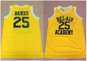Many offers Bel Air Academy #25 Clothing Banks Gold Stitched Basketball XHS1455