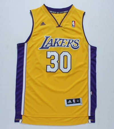 New Cheap Los Angeles Lakers Apparel 30 Julius Randle Yellow HOL2443