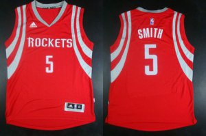 Outlet Revolution 30 Rockets #5 Josh Smith Red Road NBA Stitched YRO1925