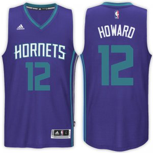 Top Quality Charlotte Hornets #12 Dwight Howard 2017 18 Road Jersey Purple Swingman EGB604