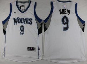 Top Quality Clothing Minnesota Timberwolves #9 Ricky Rubio Revolution 30 Swingman White CHI2865