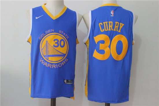 Top Quality Gear Golden State Warriors  30 Stephen Curry Chinese Blue Nike  FQW1522 460b18a6d