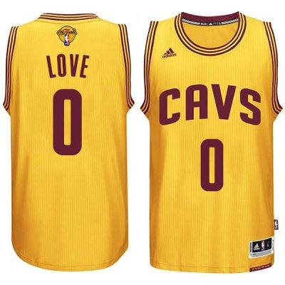 Unique design 2016 Cavaliers Finals #0 Love Basketball yellow DJC227
