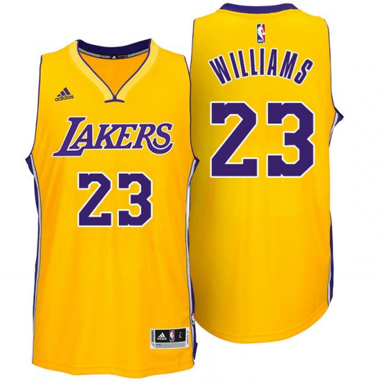 100% Hight Quality Basketball Los Angeles Lakers  23 Lou Williams Gold  OCY2389 3261702ed