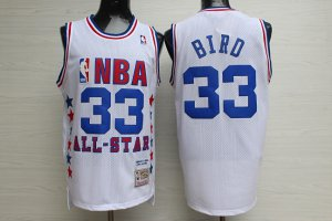 2018 Cheap Online Mens Larry Bird Mitchell & Ness Jersey White 1990 All Star Game Basketball TKK147