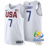 Beautiful Rio 2016 Olympics USA Merchandise Dream Team #7 Kyle Lowry White PFY3990
