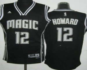 Big Discount Orlando Magic NBA #12 Dwight Howard Revolution 30 Swingman Black With White EUZ3177