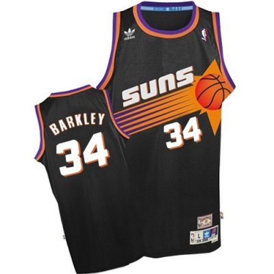Big Discount Phoenix Suns Basketball #34 Charles Barkley Black Soul Swingman ANE3348