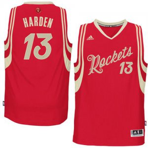 Buy Discount Rockets #13 James Harden NBA Red 2015 2016 Christmas Day Stitched UEE1010