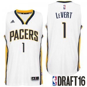 Cheap 2016 Draft Pick Indiana Pacers #1 Caris LeVert White Jersey Home Swingman RPD1991