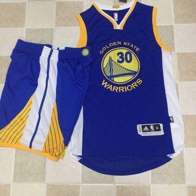 Cheap Buy Online Warriors Jersey #30 Stephen Curry Blue A Set Stitched MWU4249