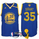 Cheap New Style Golden State Warriors Apparel #35 Kevin Durant 2017 Finals Patched Royal DDL1541