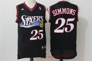 Cheap price Philadelphia Basketball 76ers #25 Ben Simmons Black Retro Revolution 30 Swingman Basketball ZAG3249