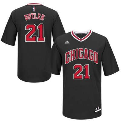 Cheaper Jerseys Chicago Bulls 21 BUTLER T shirt BLACK YJC761