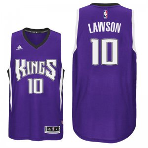 Comfortable and dry Sacramento Kings# 10 Ty Lawson 2016 Clothing 17 Road Purple YZY3540