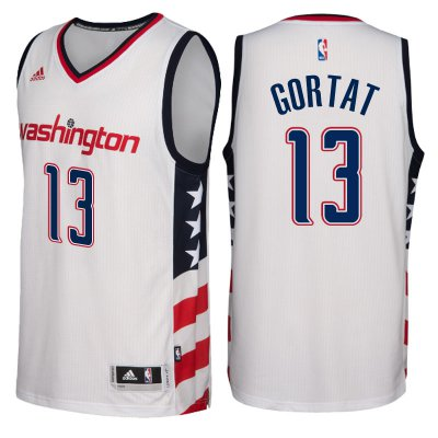 Discount Basketball Washington Wizards #13 Marcin Gortat 2016 17 Stars & Stripes White Alternate Swingman JQM4177