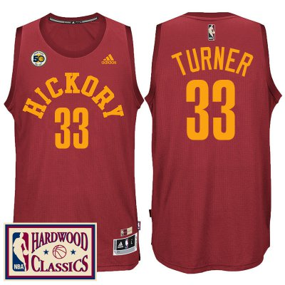 Discount Buy Indiana Pacers Basketball #33 Myles Turner 2016 17 50th Season Red Hardwood Classics Throwback OZX1985