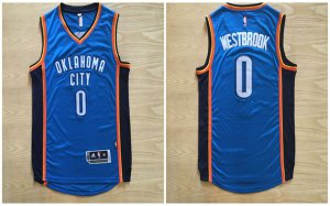 Discount Buy Russell Westbrook #0 OKC blue Basketball color VDX3098