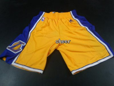 Exactly Fit Los Angeles Lakers Gear yellow shorts 133 GYC4306