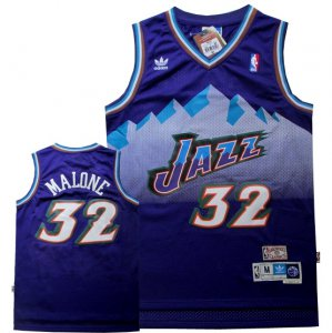 Find Clothing Utah Jazz #32 malone purple snow mountain version BZS4119