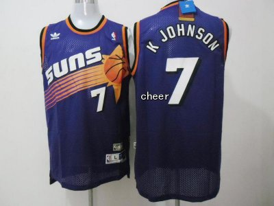 For Sale Fabric Phoenix Suns #7 K NBA Johnson purple WRH3341