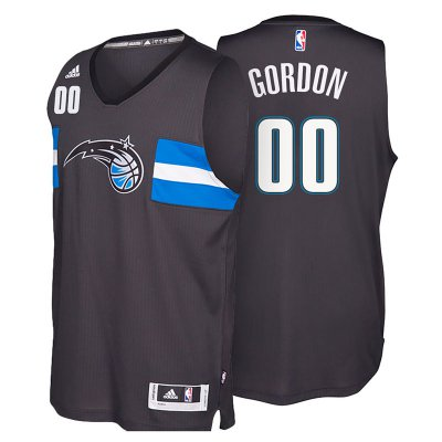 For Sale Orlando Magic #00 Aaron Gordon 2016 Gear 17 Star Alternate Black Swingman KFE3141