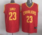 Good quality Leopard Apparel grain Cleveland Cavaliers #23 James red PAI1130