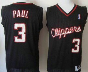 High Quality Los Angeles Apparel Clippers #3 Chris Paul Black Revolution 30 Stitched BAL2290