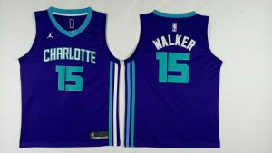 Hot Cheap Sale Charlotte Hornets #15 Kemba Walke Blue Mens Jersey Nike Swingman WRG600