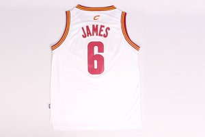 Manufacturer's delivery 6 Lebron James back Apparel Cleveland Cavaliers white KAO1198