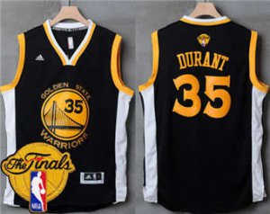 New Arrival Warriors Basketball #35 Kevin Durant Black Slate The Finals Patch Stitched KJH1861