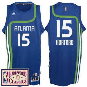 New Atlanta Hawks #15 Al Horford 2016 17 Season Royal Hardwood Classics Throwback Swingman Basketball WCL354