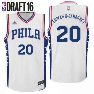 New Philadelphia 76ers #20 Timothe Luwawu Cabarrot Home White Gear Swingman XPL3238