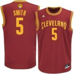 Official Cleveland Cavaliers #5 J.R. Smith Apparel 2016 The Finals Patch Red NXM289