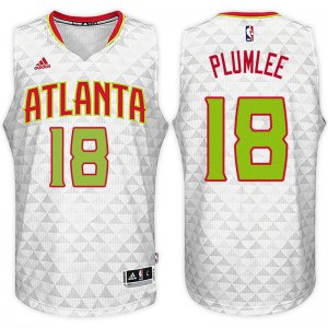 Online Cheap Atlanta Hawks #18 Miles Plumlee Home White Swingman Merchandise SLU351